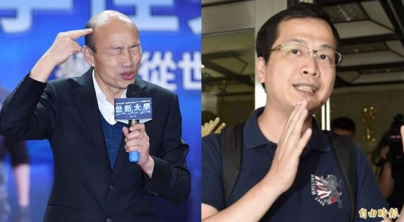 羅智強在臉書上教育韓粉,並呼籲韓國瑜主持公道,反被韓粉怒嗆。(資料照,本報合成)