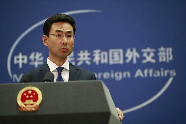 耿爽怪罪民進黨破壞一個中國原則,讓台灣無法參與世界衛生大會。(歐新社)