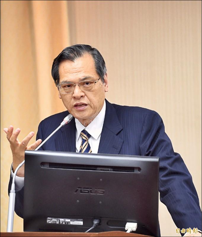陸委會主委陳明通昨表示,台灣從來就不是中華人民共和國的一部分,請郭董不要在國際社會傳達錯誤訊息。 (記者羅沛德攝)