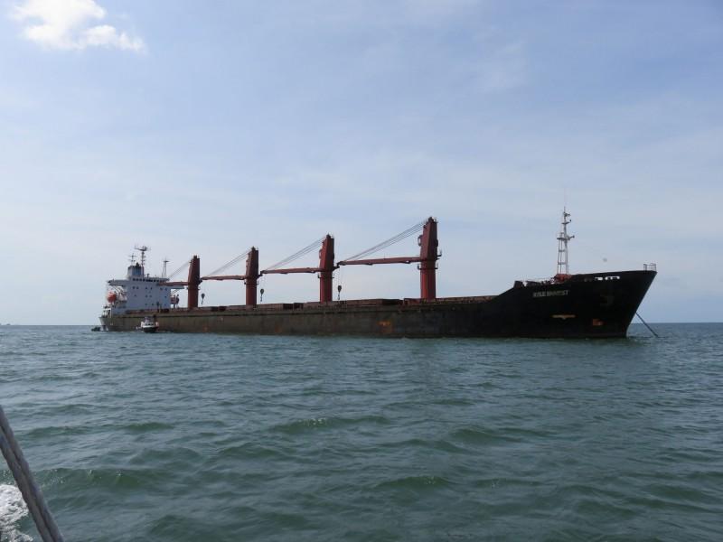北韓貨輪「Wise Honest」是該國第二大貨船,曾被用於非法運輸煤炭與重型機械,現被美國扣押。(路透)