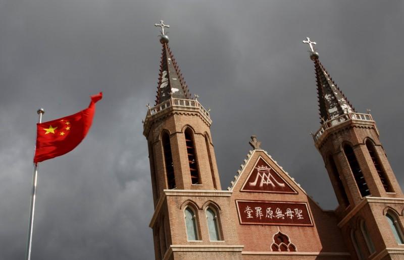 中國壓迫基督教行動全面擴張,傳繼浙江、河南後,北京、山東也淪為「重災區」。圖為中國教堂示意圖。(路透)