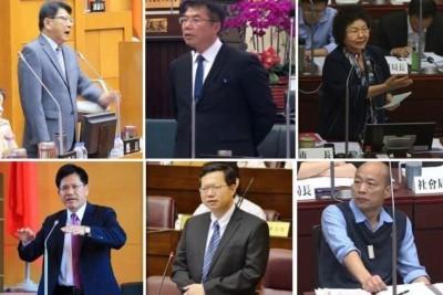 王定宇表示,林佳龍、潘孟安、鄭文燦、陳菊、黃偉哲在答詢時都是站著。(圖擷取自王定宇臉書)