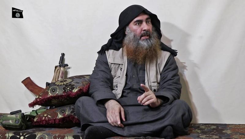 圖為疑似自封為伊斯蘭國的「哈里發(最高宗教和政治領袖)」的巴格達迪(Abu Bakr al-Baghdadi)。(法新社)