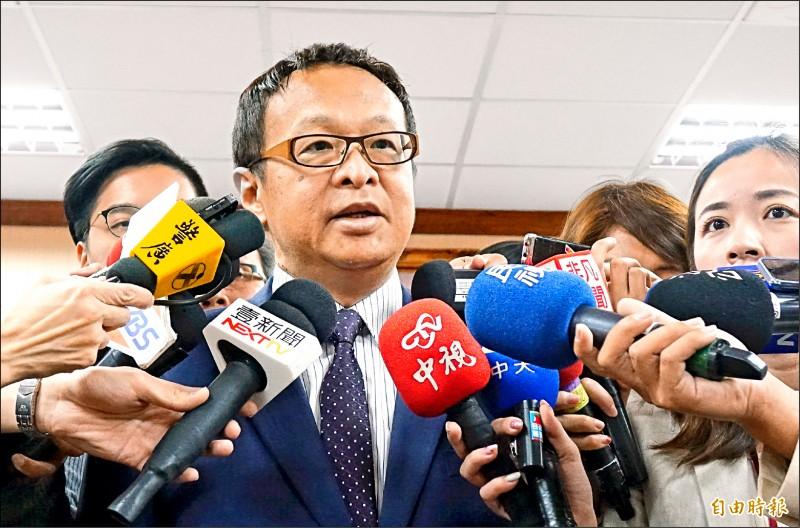 國安局副局長柯承亨13日表示,中國全國政協主席汪洋的談話統戰意味強烈,都有相當多的引導作用。(記者劉信德攝)