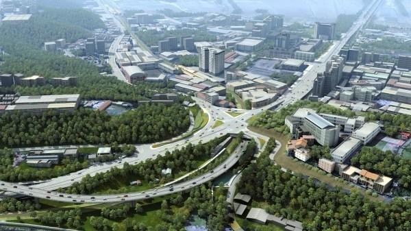 北市交通局強調,對淡北道路興建「不刁難不放水」。(圖由新北市新工處提供)