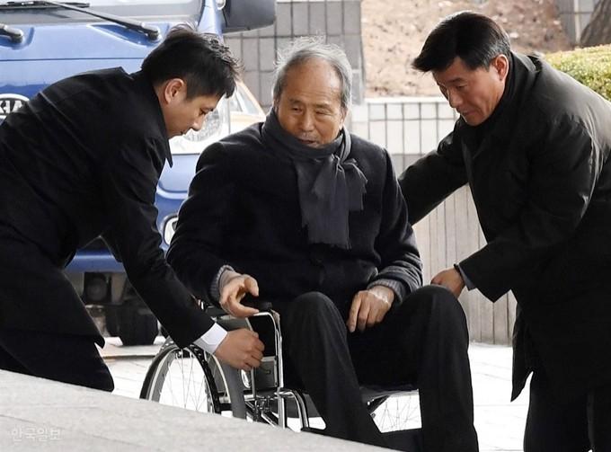 李明博的二哥李相得收受賄賂罪名成立,判處有期徒刑1年3個月。(圖取自韓國時報)