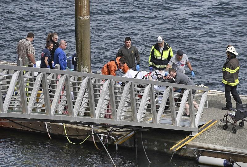 美國阿拉斯加於當地時間13日下午驚傳兩架水上飛機相撞的意外。(圖擷自toronto.citynews)
