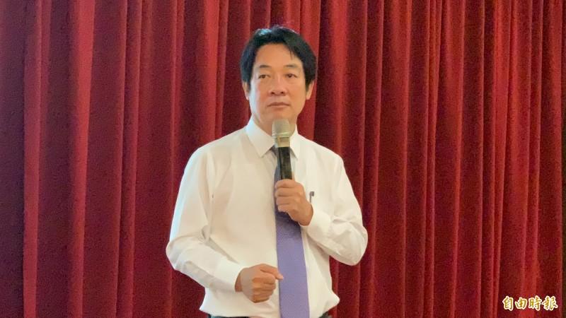 賴清德表示,中國已經開始併吞的期程,強調將他會竭盡所能捍衛台灣主權,不讓台灣被併吞。(記者蔡淑媛攝)