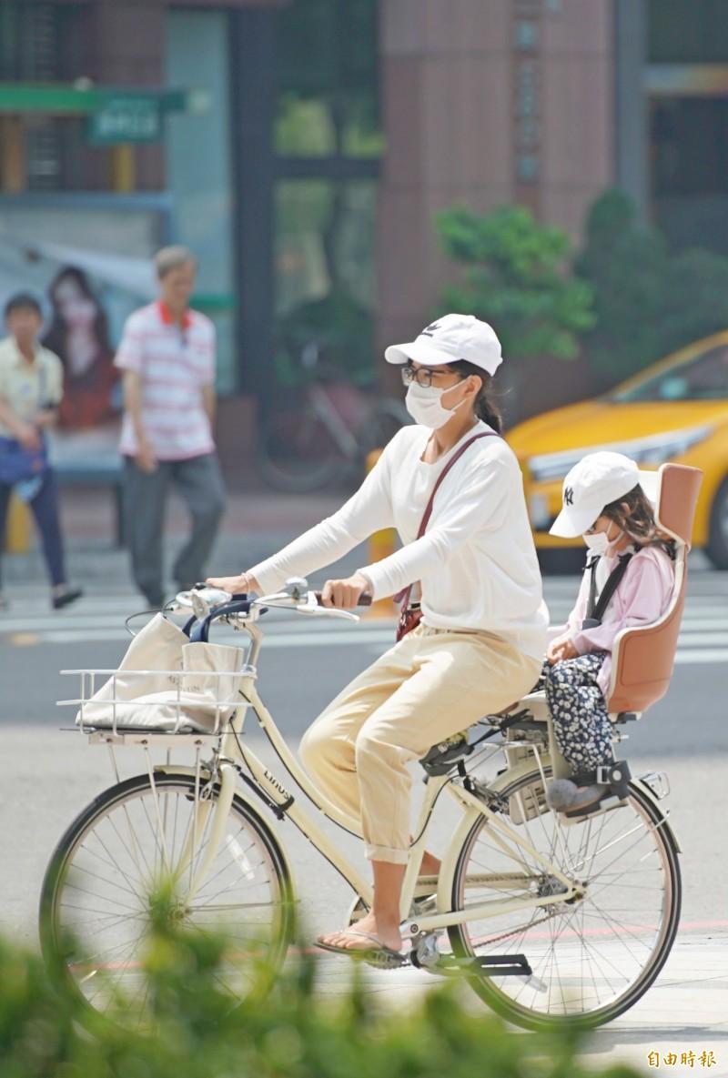 今天各地維持晴朗穩定天氣,不過北部地區空氣品質可能較為不佳,敏感族群民眾出門建議佩戴口罩。(資料照)