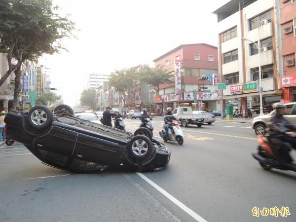 交通部統計顯示,高雄市第1季車禍死亡人數為全國第一。圖為高雄車禍示意圖。(資料照)