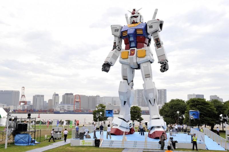 東京奧運和帕運組織委員會今(15)日宣布,計畫將把動漫《機動戰士鋼彈》模型送上太空,以此為東奧造勢。鋼彈模型示意圖,與本新聞無關。(法新社)