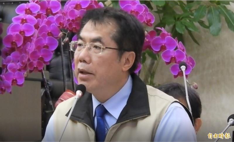 台南市長黃偉哲強調林燕祝指控的不是事實。(記者洪瑞琴攝)