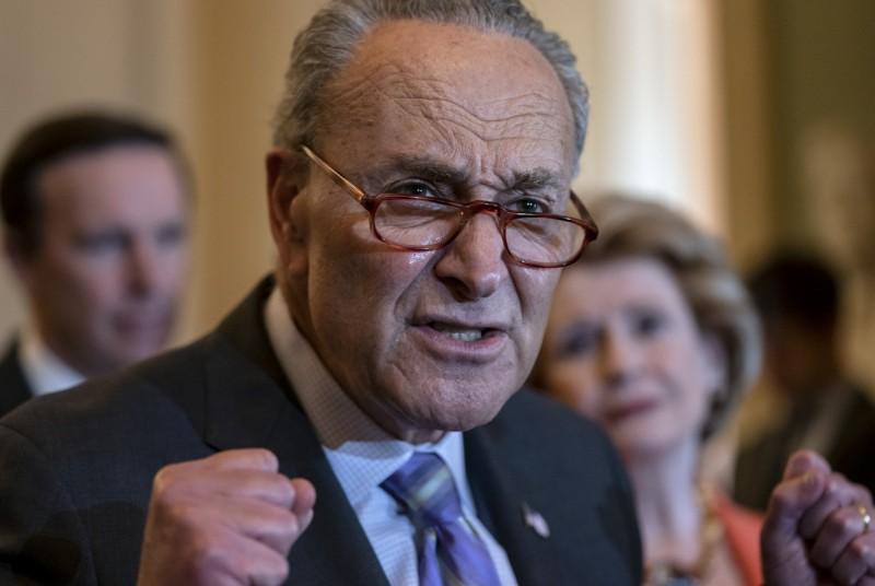 圖為美國參議院民主黨領袖舒默。(美聯社)