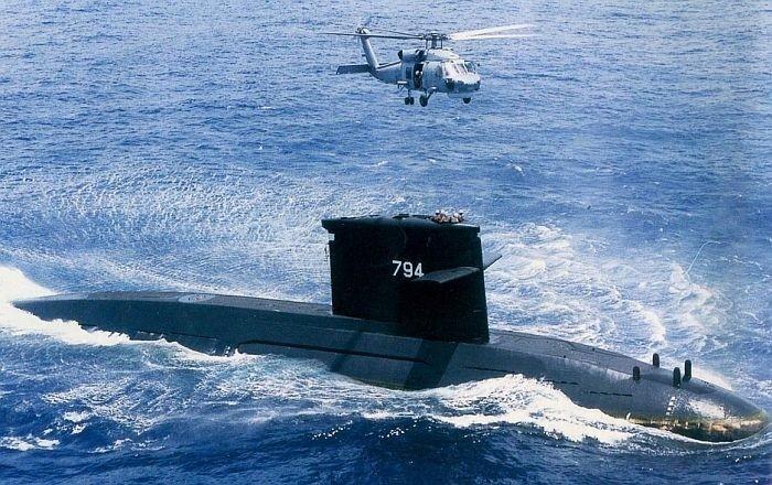 海軍劍龍級潛艦。圖為海虎潛艦。(圖:取自海軍司令部網站)
