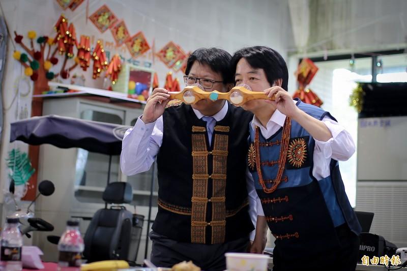 與潘孟安共飲「海誓山盟」酒 賴清德:是好朋友啊!