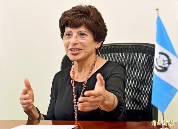 瓜地馬拉駐台大使亞谷華。(資料照,記者朱沛雄攝)