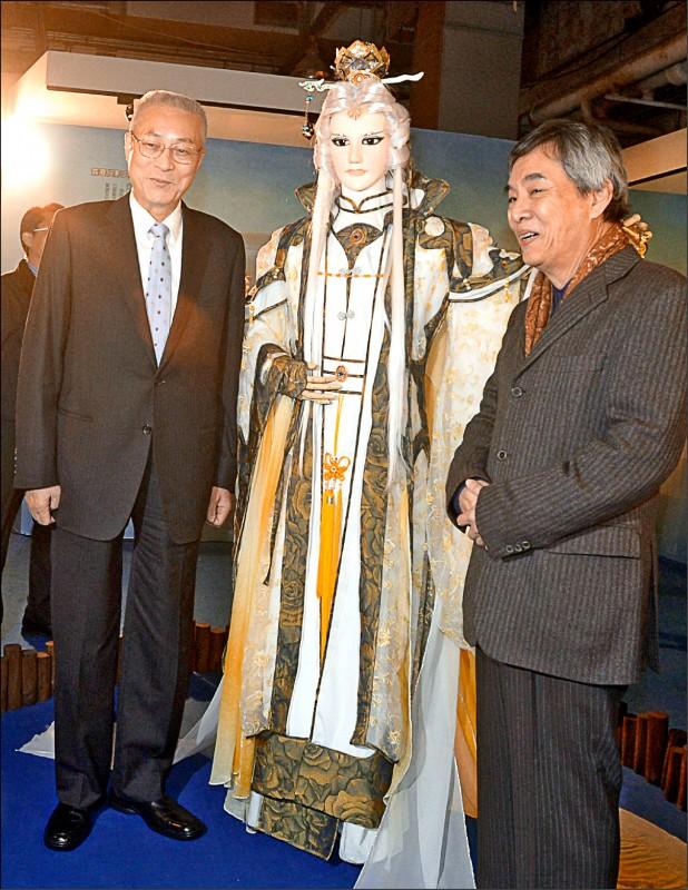國民黨主席吳敦義也是布袋戲迷,喜歡「素還真」等角色。(資料照)