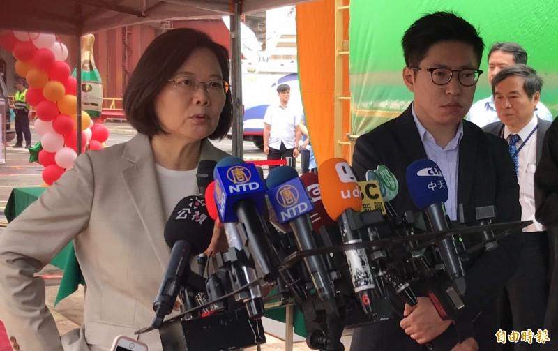總統蔡英文再度對賴喊話,呼籲合作「1+1大於2」。(記者洪臣宏攝)