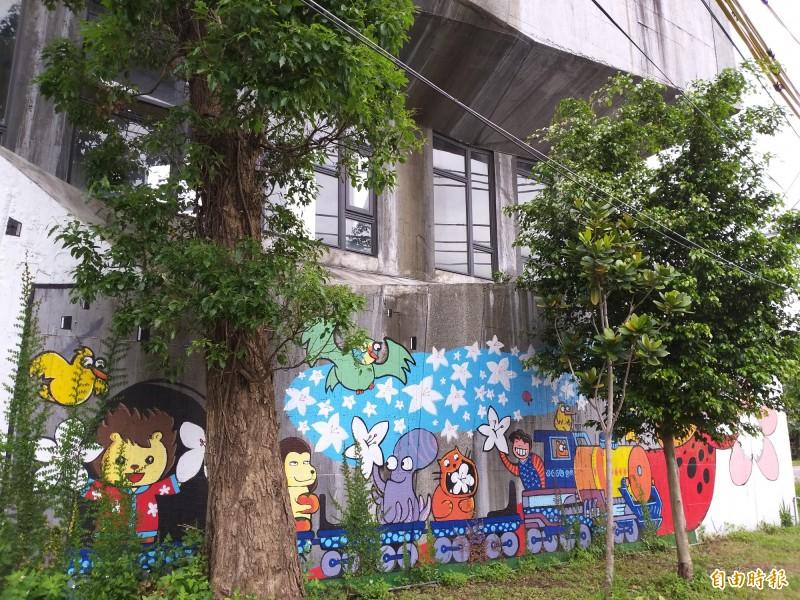 新竹縣政府委外營運的竹東文創藝術村。(記者廖雪茹攝)
