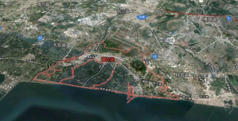 韓國瑜提出要在彌陀區蓋雙跑道國際機場。(資料照、取自網路)