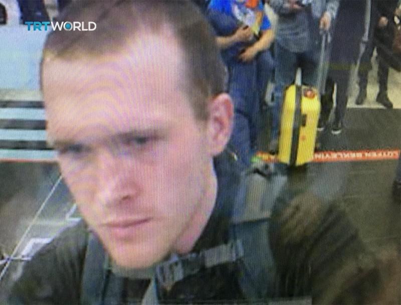紐西蘭基督城清真寺恐攻槍擊案槍手塔倫,遭控「恐怖主義行動」罪名。(美聯社)