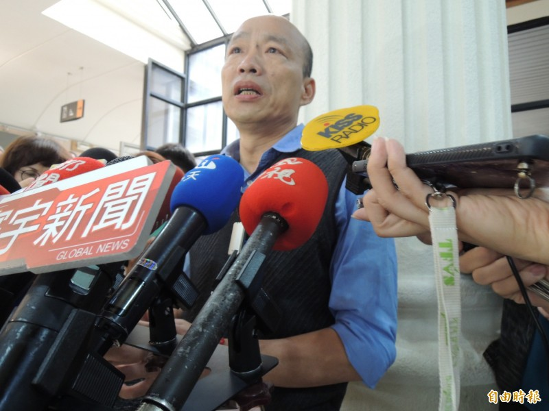 高雄20日大雨過後、並無嚴重災情傳出,高雄市長韓國瑜今表示,高雄全市沒淹水、只有永安地區有一點小小的積水,代表過去幾個月市府的努力作為是正確的。(記者王榮祥攝)