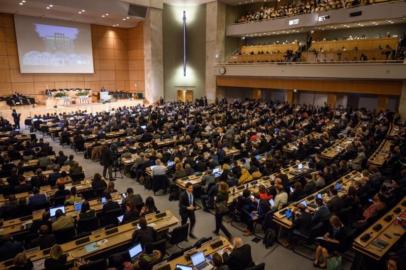 第72屆世界衛生大會(WHA)20日在瑞士日內瓦開幕,台灣第3年未能獲邀參與。(法新社)