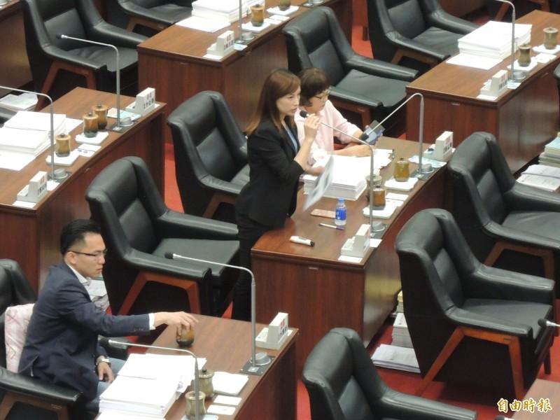 民進黨高市議員李雅慧建議將哈囉市場升級。(記者王榮祥攝)