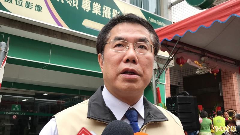 總統初選民調喬不定,台南市長黃偉哲籲請蔡、賴陣營各退一步。 (記者吳俊鋒攝)