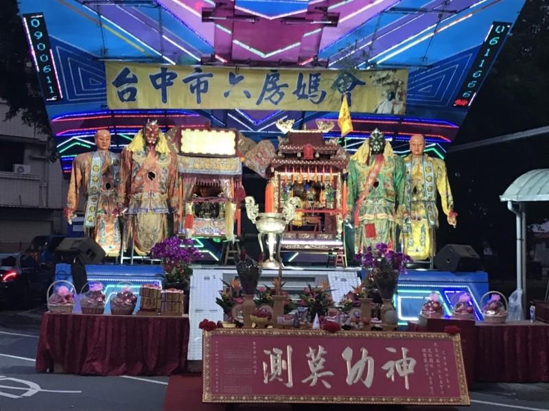 雲林六房媽舉行過爐文化慶典活動,台中六房媽前往雲林會香。(記者蘇金鳳翻攝)