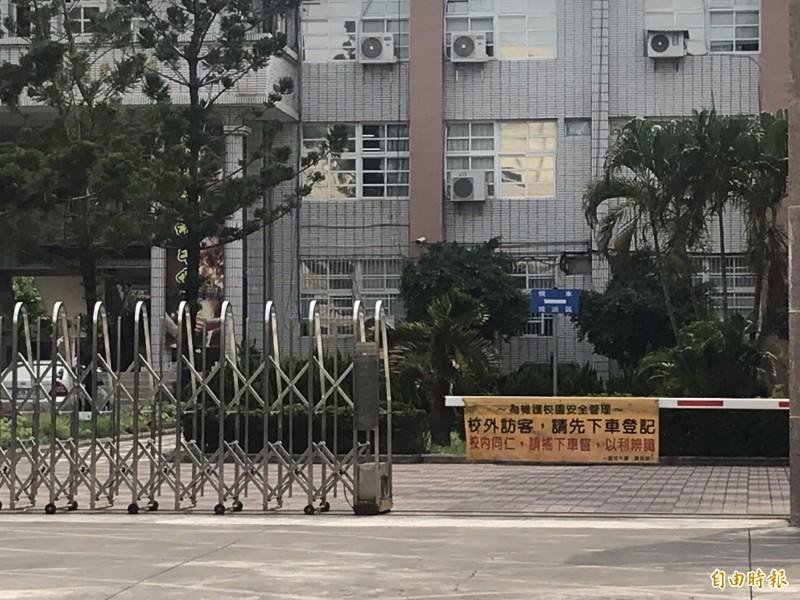 台南今午驚傳一名女國中生從4樓墜落,送醫前無呼吸心跳,搶救後仍宣告不治。(記者萬于甄攝)