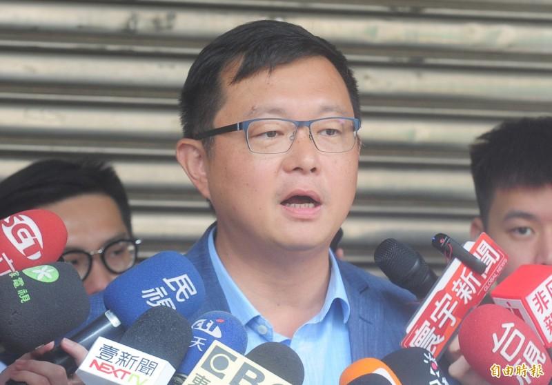 賴清德辦公室發言人李退之針對中執會討論事宜,表示看法意見。(記者王藝菘攝)