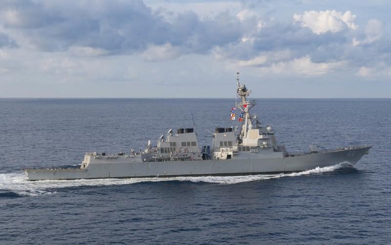美國軍方表示,已經在22日派出2艘海軍艦,包括驅逐艦「普瑞布爾號」(USS Preble)以及補給艦「迪爾號」(USNS Walter S. Diehl)通過台灣海峽。圖為「普瑞布爾號」。(路透資料照)