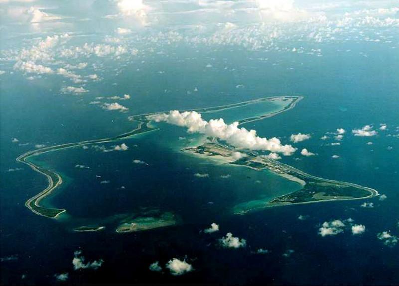 圖為查哥斯群島的主島迪戈加西亞島(Diego Garcia)。(路透資料照)