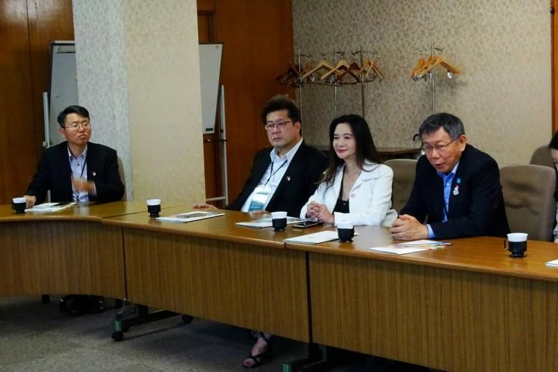 台北市長柯文哲拜會東京奧會。(台北市政府提供)