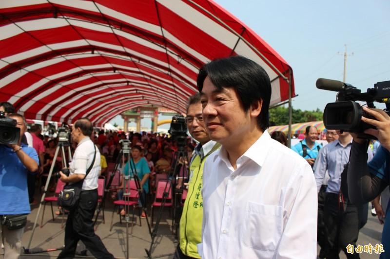 前行政院長賴清德今參加在彰化縣福興鄉舉辦的西瓜節活動。(記者張聰秋攝)