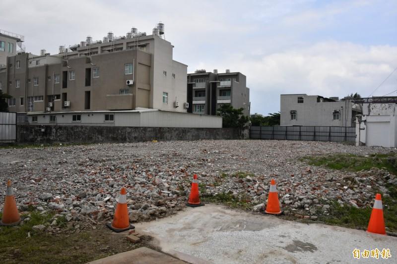 衛生福利部恆春旅遊醫院春新建醫療大樓工程,預計興建地上8層、地下1層。(記者蔡宗憲攝)