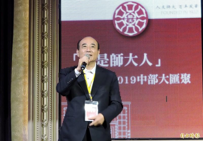 前立法院長王金平表示,各地王金平之友會將陸續成立。(記者張菁雅攝)
