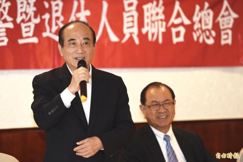 前立法院長王金平26日出席「捍衛五權憲法-捍衛人民的考試權」論壇。(記者叢昌瑾攝)
