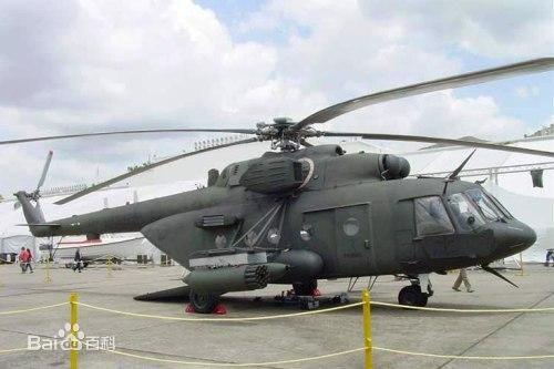 解放軍一架米-17系列運輸直升機,疑在秦嶺墜毀,機上6名軍人全數死亡。圖為米-17系列直升機示意圖。(圖擷取自百度)