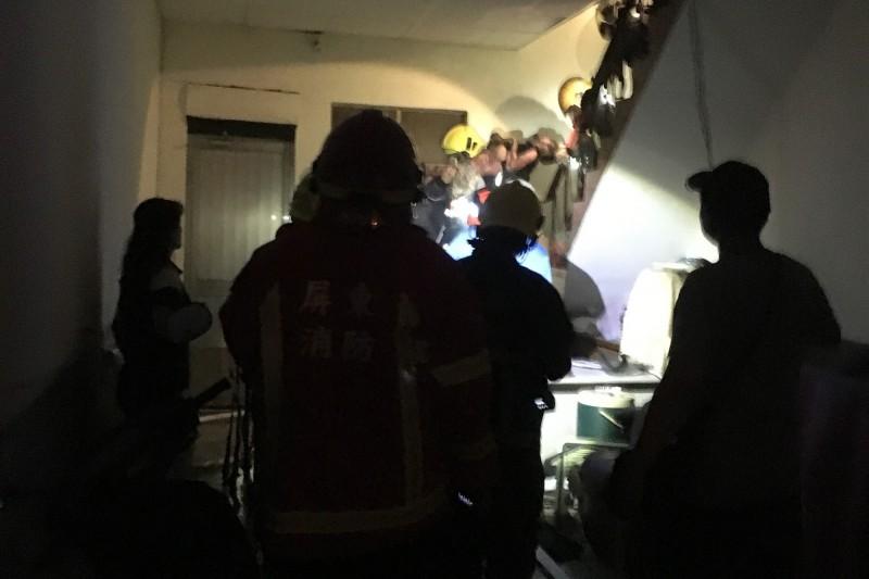 潮州火災燒死身障男,疑為媽媽前男友縱火,檢警持續調查偵辦中。(記者邱芷柔翻攝)