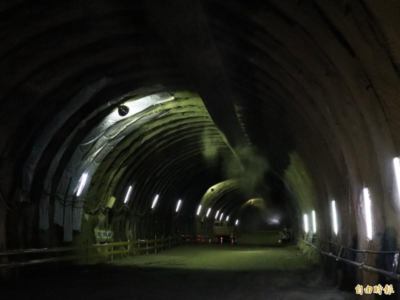 國道四號豐段豐原2號西行隧道。(記者歐素美攝)