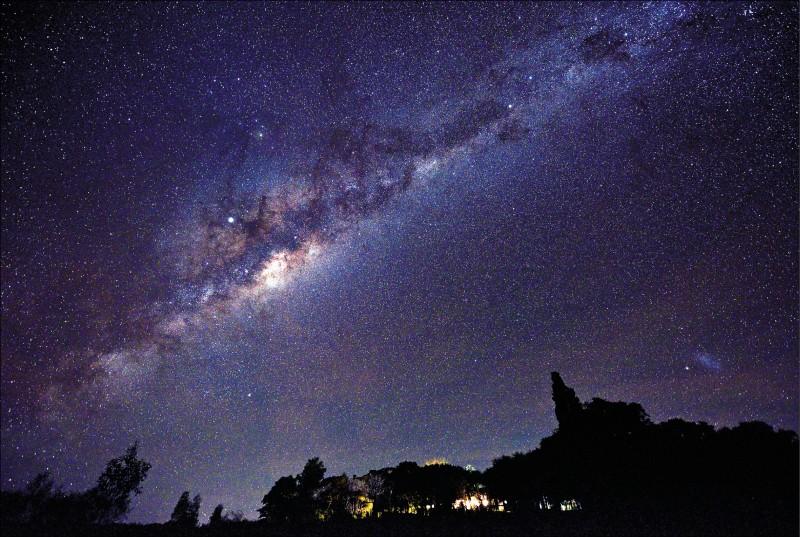 烏拉圭索里亞諾省鄉間的星空夜景。(法新社)