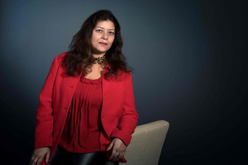 將#MeToo運動引入法國的女權運動發起人穆勒(Sandra Muller),遭提告誹謗。(法新社)
