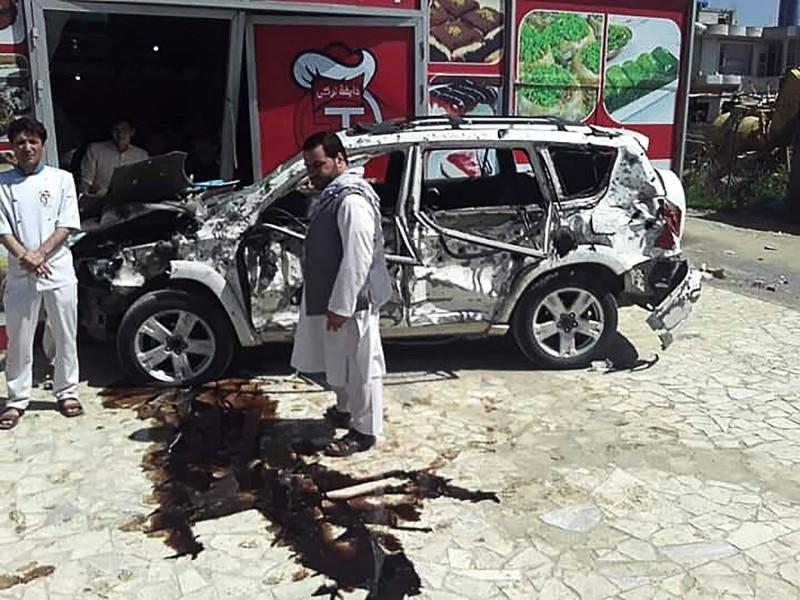 阿富汗首都喀布爾(Kabul)今(31)日驚傳針對美軍車隊的汽車自殺炸彈案,至少造成8人傷亡。(法新社)