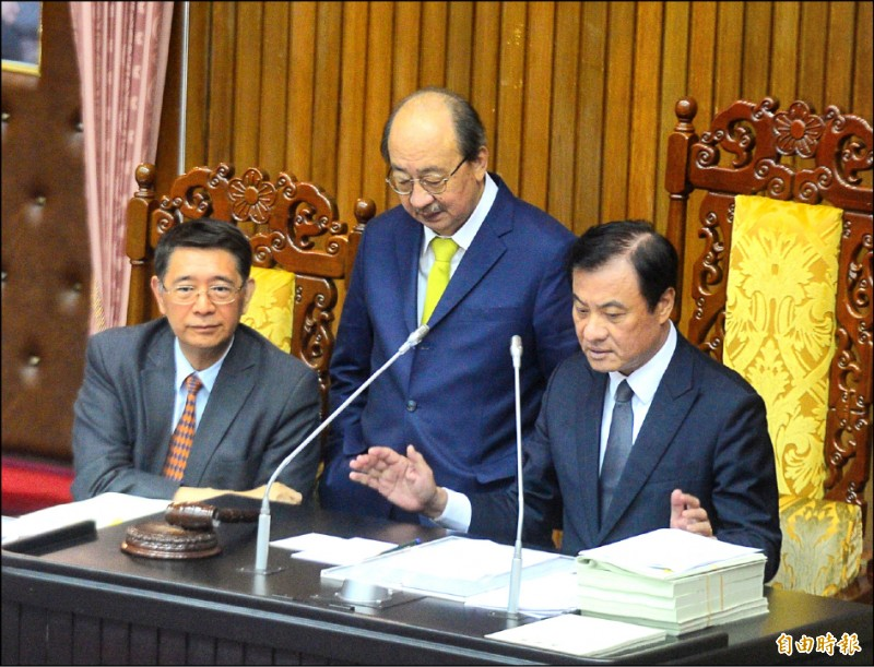 立法院院會昨三讀通過「國防產業發展條例」,明定國防產業廠商分級機制。(記者王藝菘攝)