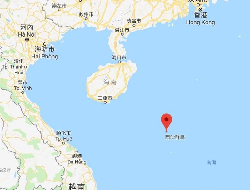 中共軍演地點。(圖擷自Google地圖)