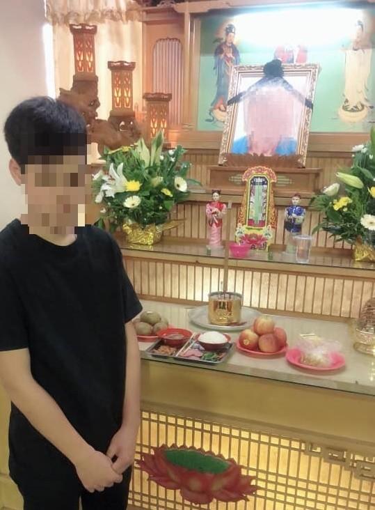 陳在斌疑似未經親友同意,擅自替少年(見圖)葬父事件募款。(擷取自臉書)