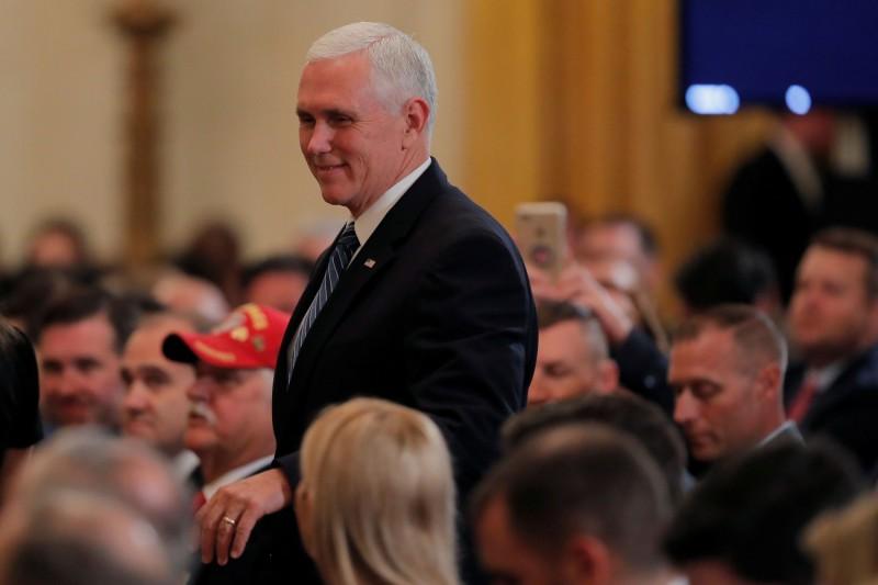 美國副總統彭斯(Mike Pence)傳出6月中旬會針對「六四大屠殺30週年」公開講話。(路透)