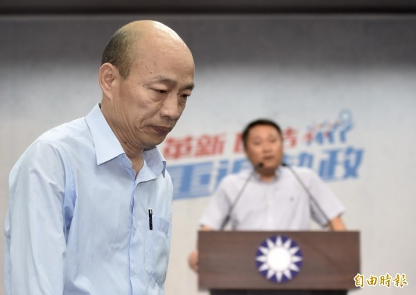 高雄市長韓國瑜日前主張應該要把「年金改革」改回來,恢復政府過去對軍公教人員的承諾。(資料照)
